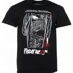 Men's Black Friday 13th Bloody Poster T-Shirt