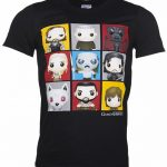 Men's Black Game Of Thrones Funko Characters T-Shirt