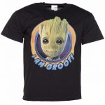 Men's Black Guardians Of The Galaxy I Am Groot T-Shirt