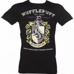Men's Black Harry Potter Hufflepuff Team Quidditch T-Shirt