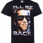 Men's Black I'll Be Back Terminator T-Shirt