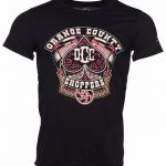 Men's Black Orange County Choppers Poker Run T-Shirt