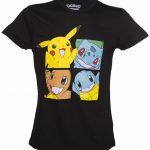 Men's Black Pokemon Characters T-Shirt