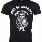 Men's Black Sons Of Anarchy Reaper T-Shirt