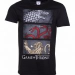 Men's Black Sigil Row Game Of Thrones T-Shirt