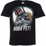 Men's Black Star Wars Boba Fett Comic T-Shirt