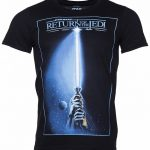 Men's Black Star Wars Lightsaber Jedi T-Shirt