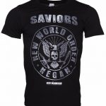 Men's Black Walking Dead Saviors New World Order Negan T-Shirt