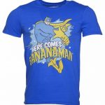 Men's Blue Here Comes Bananaman T-Shirt