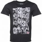 Men's Charcoal DC Comics Harley Quinn Photobooth T-Shirt