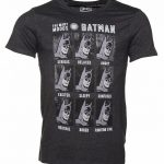 Men's Charcoal DC Comics Many Faces Of Batman T-Shirt