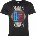 Men's Charcoal Duran Duran Ragged Tiger T-Shirt from Amplified