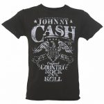 Men's Charcoal Johnny Cash Eagle T-Shirt from Amplified