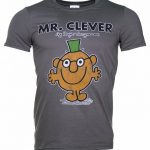 Men's Charcoal Mr Clever Book Cover T-Shirt