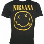 Men's Charcoal Nirvana Smiley T-Shirt from Amplified