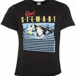 Men's Charcoal Rod Stewart Blinds T-Shirt from Amplified
