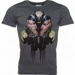 Men's Charcoal Wolverine Fight T-Shirt