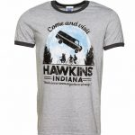 Men's Come and Visit Hawkins Indiana Stranger Things Inspired Ringer T-Shirt