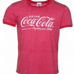 Men's Drink Coca-Cola Logo Ringer T-Shirt
