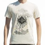 Men's Ecru Harry Potter Marauders Map UV T-Shirt