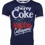 Men's Enjoy Cherry Coke Ringer T-Shirt