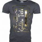 Men's Foil Print Golden Ticket Roald Dahl T-Shirt