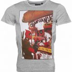 Men's Grey Deadpool Chimichanga Stall T-Shirt