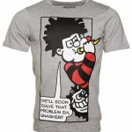 Men's Grey Marl Beano Solve That Problem T-Shirt