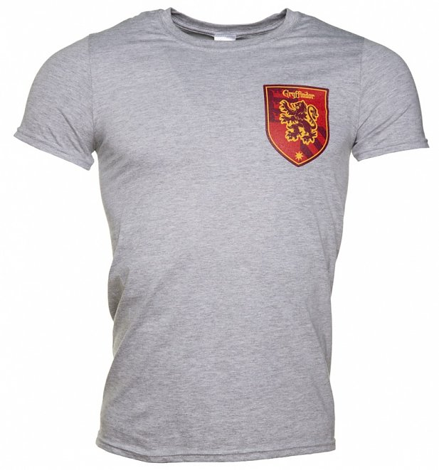 44651103d If you missed out on a place at Hogwarts in the house of Gryffindor, you  can now imagine you are there in this awesome collegiate style tee with  crest ...