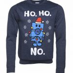 Men's Mr Grumpy Ho Ho No Heather Navy Sweater