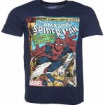 Men's Navy Marvel Spider-Man Comic T-Shirt