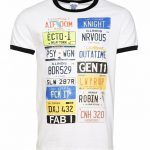 Men's Old School Number Plates Retro Ringer T-Shirt