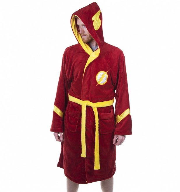 Men\'s Red DC Comics The Flash Dressing Gown | Retro Shop UK : Retro ...