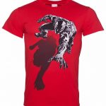 Men's Red Marvel Comics Black Panther Shadow T-Shirt