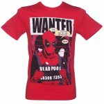 Men's Red Marvel Comics Deadpool Wanted T-Shirt