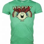 Men's Retro Mr Happy T-Shirt