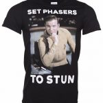 Men's Star Trek Set Phasers To Stun Captain Kirk T-Shirt