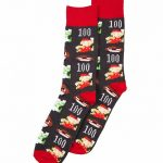 Men's Super Mario Brothers Pixel Characters Socks