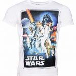 Men's White Star Wars A New Hope Movie Poster T-Shirt