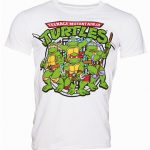 Men's White Teenage Mutant Ninja Turtles Group T-Shirt