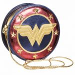 Metallic Wonder Woman Shield Cross Body Bag