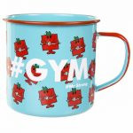 Mr Strong Gym Enamel Mr Men Mug