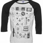 Old School Gamer Raglan Baseball T-Shirt