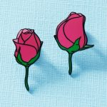 Pair Of Roses Enamel Pin Duo from Punky Pins