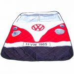 Red VW Campervan Picnic Rug
