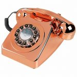 Retro 746 Copper Telephone from Wild & Wolf