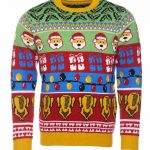 Retro Holly And Turkey Knitted Jumper from Cheesy Christmas Jumpers