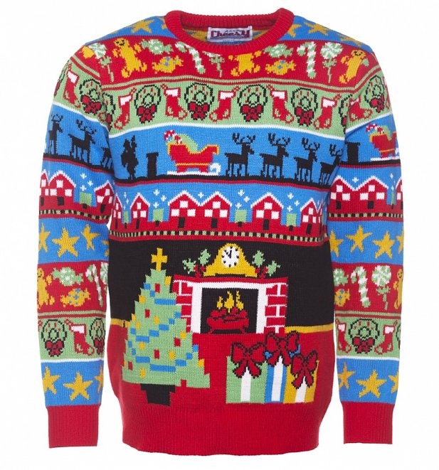 Retro Twas The Night Before Christmas Knitted Jumper From Cheesy