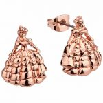 Rose Gold Plated Beauty & The Beast Princess Belle Stud Earrings from Disney Couture