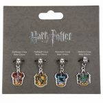 Silver Plated Harry Potter Set Of 4 Crest Slider Charms